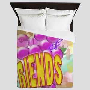 Wine & Friends Queen Duvet