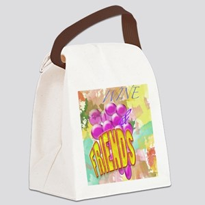 Wine & Friends Canvas Lunch Bag