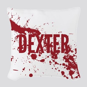 splatter-white-dexter_allover- Woven Throw Pillow
