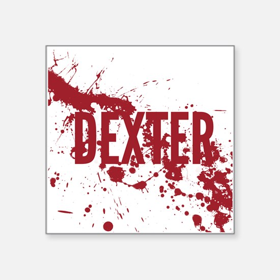 "splatter-white-dexter_allov Square Sticker 3"" x 3"""