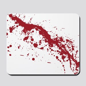 splatter-white_allover-f Mousepad