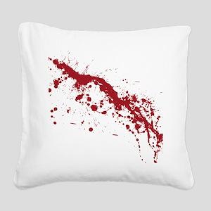 splatter-white_allover-f Square Canvas Pillow