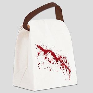 splatter-white_allover-f Canvas Lunch Bag