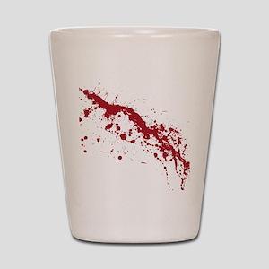 splatter-white_allover-f Shot Glass