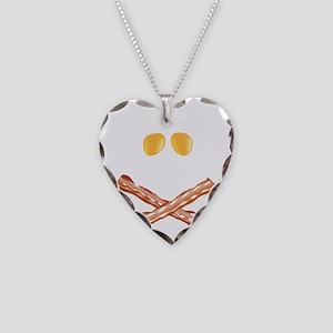 Tasty Skull  Bones Necklace Heart Charm