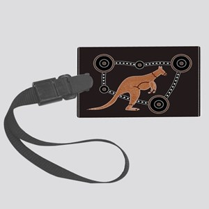 Aboriginal Kangaroo Large Luggage Tag