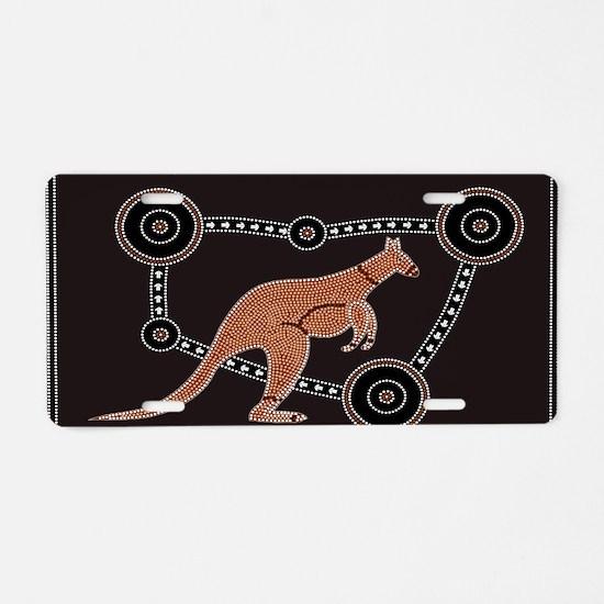 Aboriginal Kangaroo Aluminum License Plate