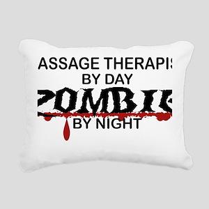 Massage Therapist Zombie Rectangular Canvas Pillow