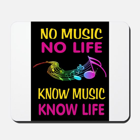 KNOW MUSIC Mousepad