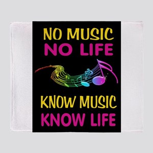 KNOW MUSIC Throw Blanket