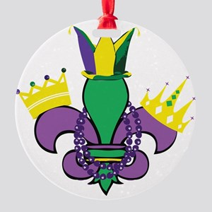Mardi Gras Party Round Ornament