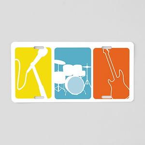 Musical Instruments Aluminum License Plate