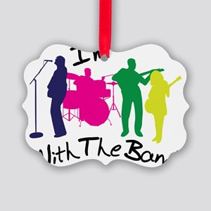 I'm With The Band Picture Ornament