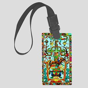 King Pakal Mayan ruler Large Luggage Tag