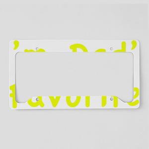 dadsFavor1D License Plate Holder