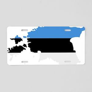 Estonia map flag Aluminum License Plate