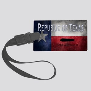 Republic of Texas Large Luggage Tag