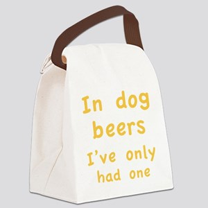 dogBeers1C Canvas Lunch Bag