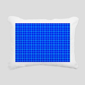 Blue Checkered Gingham P Rectangular Canvas Pillow