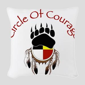 Circle Of Courage Woven Throw Pillow
