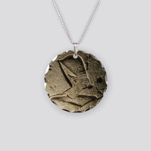 Funky Egyptian Hieroglyph at Necklace Circle Charm