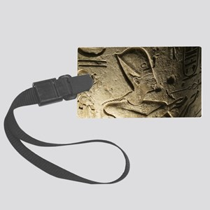 Funky Egyptian Hieroglyph at Nig Large Luggage Tag