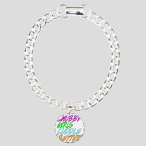 Chubby Girls Cuddle Bett Charm Bracelet, One Charm