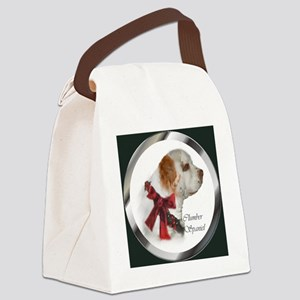 Clumber Spaniel Christmas Canvas Lunch Bag