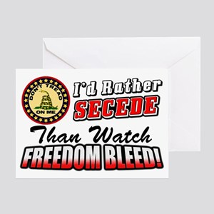 Secede Greeting Card