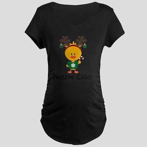 Festive Chick Maternity Dark T-Shirt