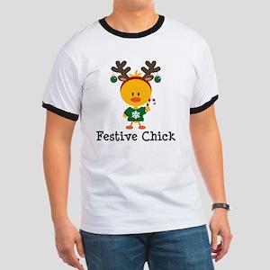 Festive Chick Ringer T
