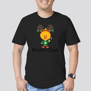 Festive Chick Men's Fitted T-Shirt (dark)