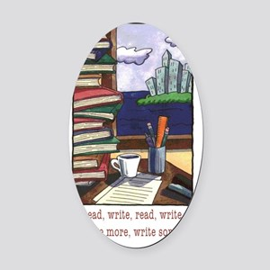 Read Write Oval Car Magnet