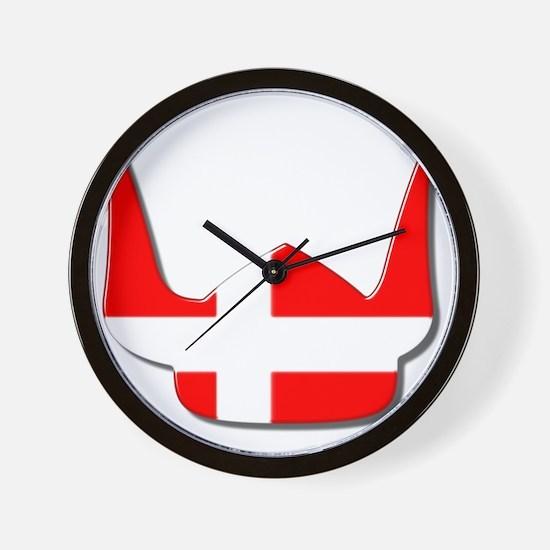 Denmark Dane Helmet Flag Design Wall Clock