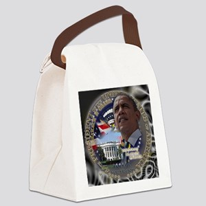 Obama Re-elected Canvas Lunch Bag