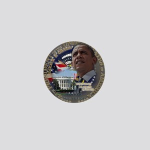 Obama Re-elected Mini Button