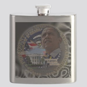 Obama Re-elected Flask