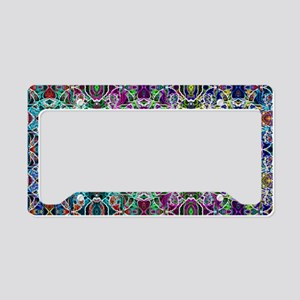 Rainbow Fractal Art Pattern License Plate Holder