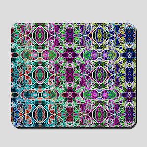 Rainbow Fractal Art Pattern Mousepad