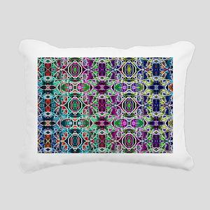 Rainbow Fractal Art Patt Rectangular Canvas Pillow