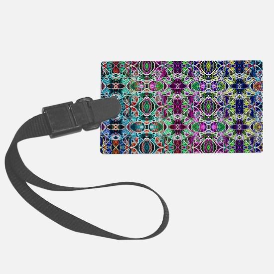 Rainbow Fractal Art Pattern Luggage Tag