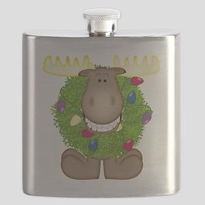 Merry Christmoose Flask