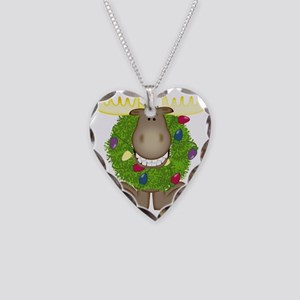 Merry Christmoose Necklace Heart Charm