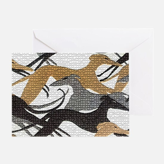 Art Deco Hounds Greeting Card