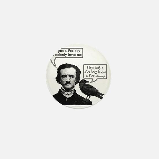 Edgar Allan Poe Riffs On Queen's Bohem Mini Button