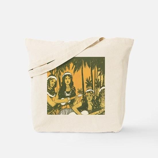 Hawaiian Ukelele Girls Tote Bag