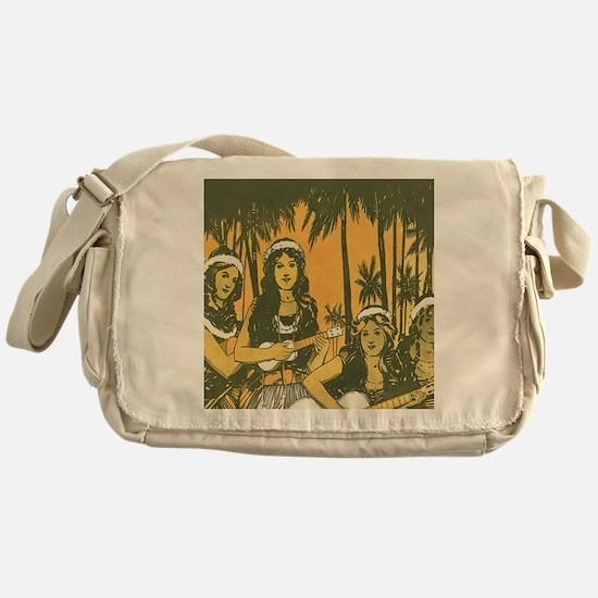 Hawaiian Ukelele Girls Messenger Bag