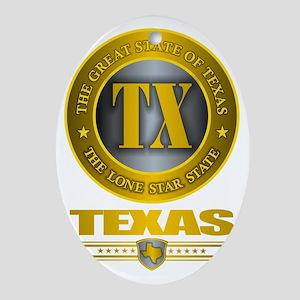 Tex Oval Ornament