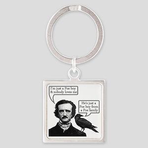 Edgar Allan Poe Riffs On Queen's B Square Keychain