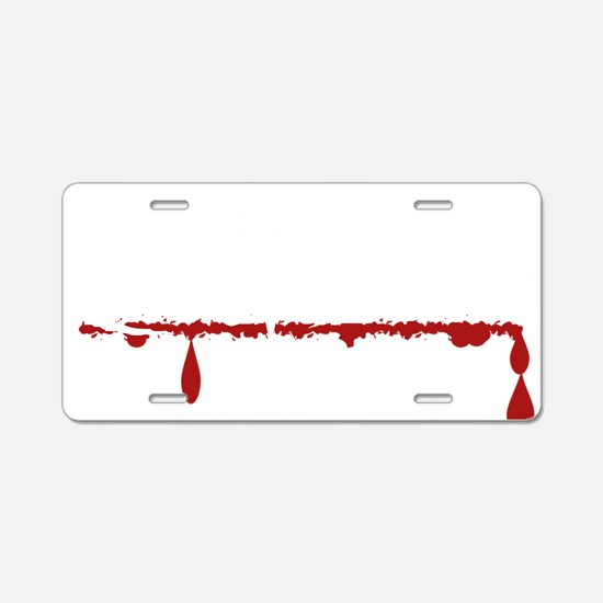 Midwife Zombie Aluminum License Plate